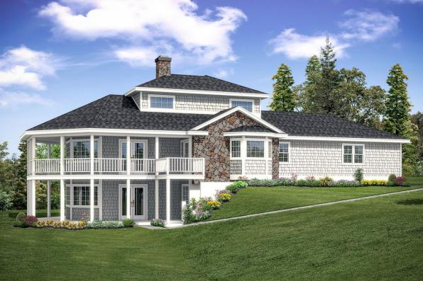 Cape Cod House Plan - New Haven 10-611 - Front Elevation