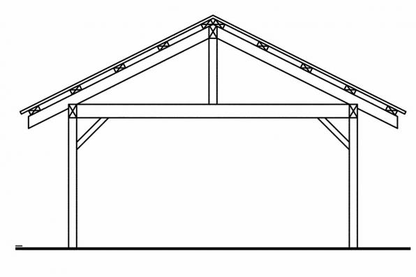 Carport Design 20-062 - Rear Elevation