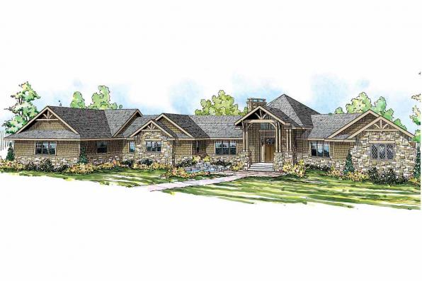 Chalet House Plan - Barrett 30-773 - Front Elevation