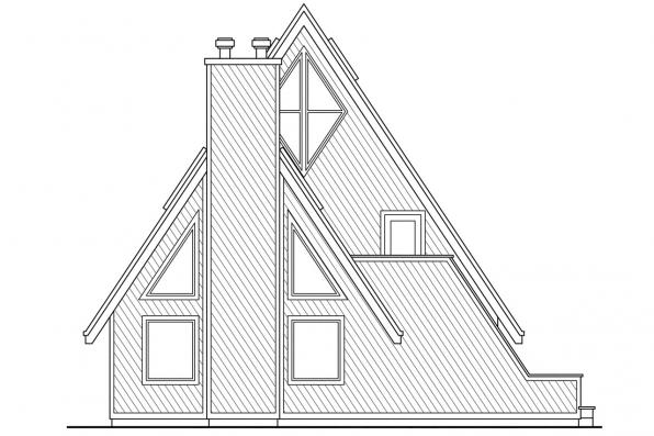 Chalet House Plan - Cascade 10-034 - Right Elevation