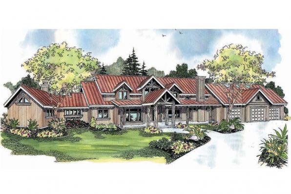 Chalet House Plan - Coeur D'Alene 30-634 - Front Elevation