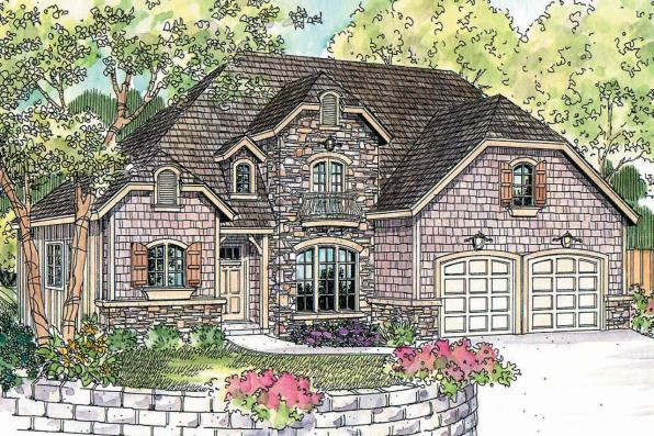 Chateau House Plan - Wedgewood 30-629 - Front Elevation