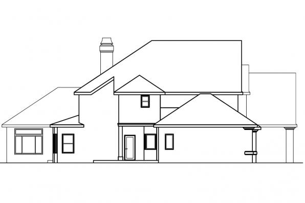 Classic House Plan - Avalon 30-306 - Right Elevation