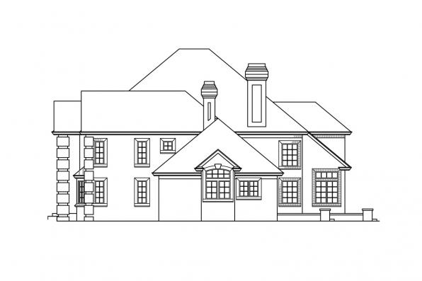 Classic House Plan - Franklin 50-001 - Left Elevation