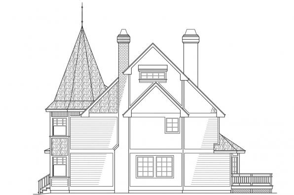 Classic House Plan - Gibson 10-030 - Left Elevation