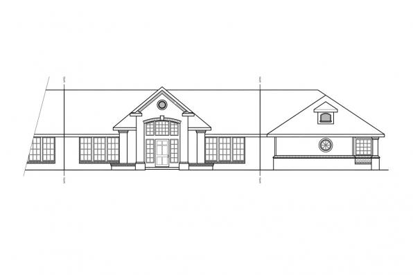 Classic House Plan - Hawthorne 30-054 - Left Elevation