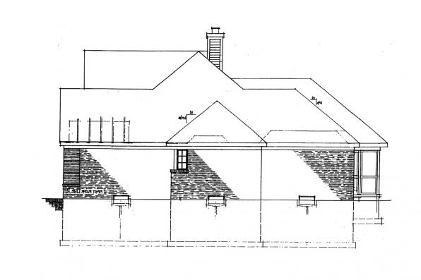 Classic House Plan - Ingraham 42-016 - Left Elevation