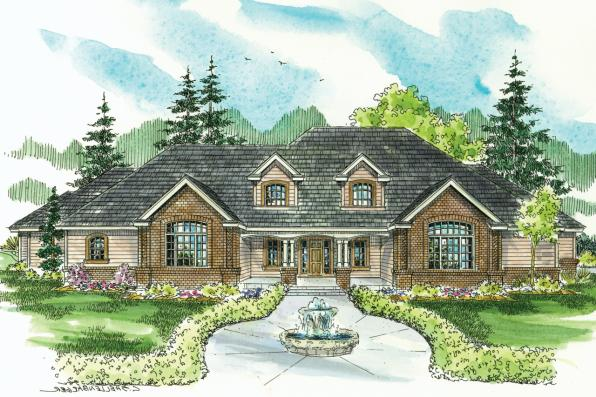 Classic House Plan - Laurelwood 30-722 - Front Elevation