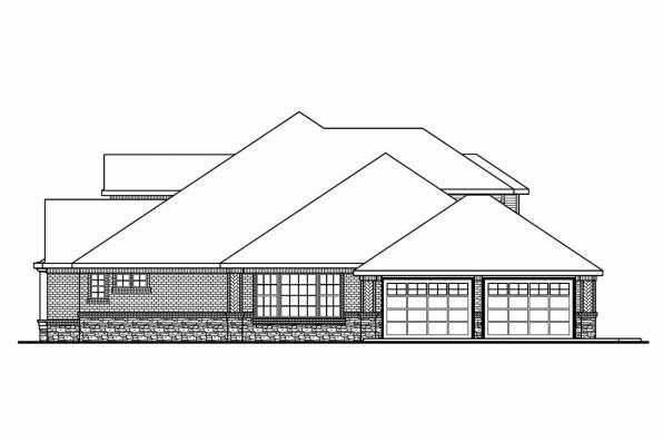 Classic House Plan - Monticello 30-734 - Left Elevation
