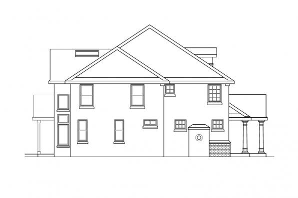 Classic House Plan - Roxbury 30-187 - Right Elevation