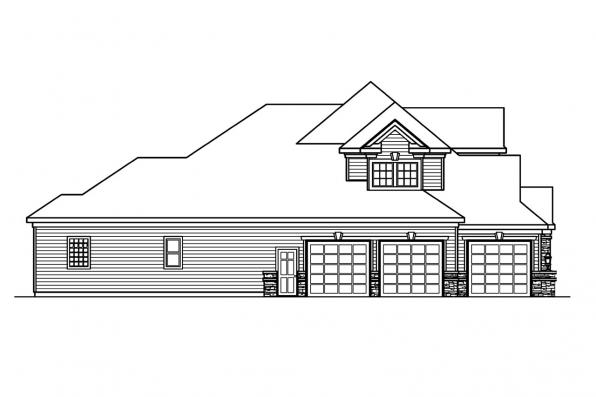 Classic House Plan - Stonehaven 30-465 - Right Elevation