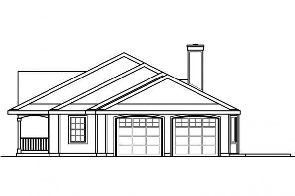 Colonial House Plan - Clarkdale 30-783 - Left Elevation