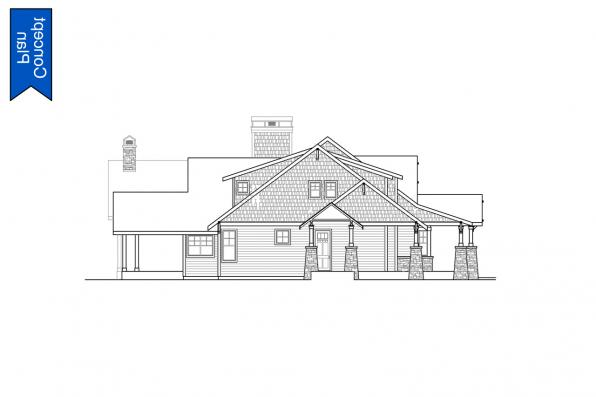 Concept House Plan - Elk Cove 31-224 - Right Elevation