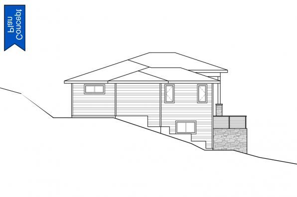 Modern House Plan - Nehalem 31-233 - Right Elevation