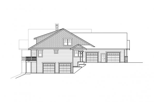 Ranch House Plan - Estes Park 31-146 - Right Elevation