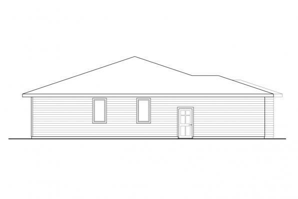Home Design with Mud Room - Chicory 31-169 - Right Elevation