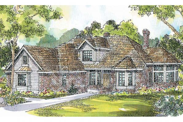 Contemporary House Plan - Blueridge 10-205 - Front Elevation