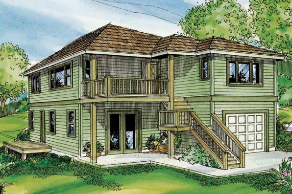 Contemporary House Plan - Glenview 30-687 - Front Elevation