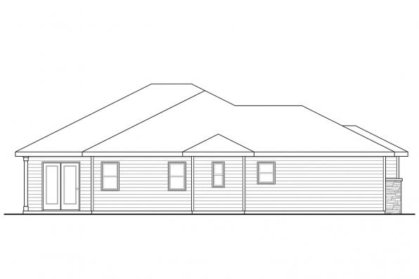 Contemporary House Plan - Lake Creek 30-819 - Right Elevation