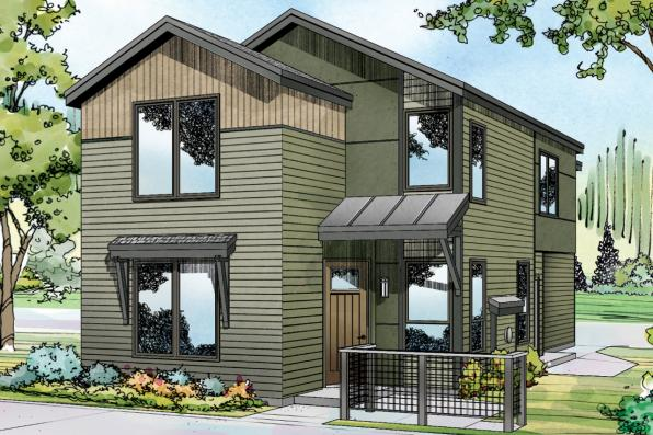 Contemporary House Plan - Merino 30-953 - Front Elevation