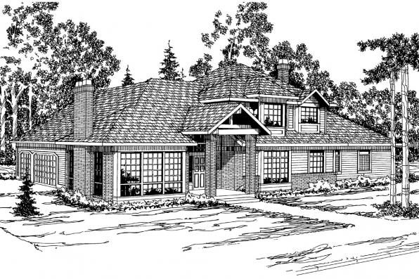 Contemporary House Plan - Middleton 30-135 - Front Elevation
