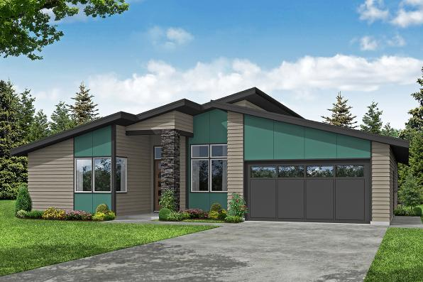 Contemporary House Plan - Nisqually 31-191 - Front Elevation