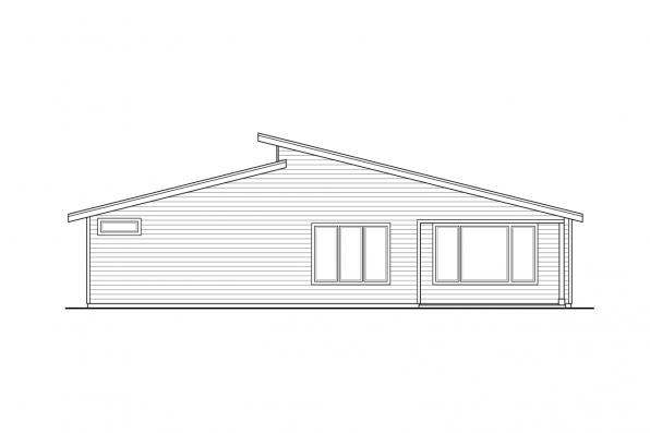 Single Level House Plan - Nisqually 31-191 - Rear Elevation