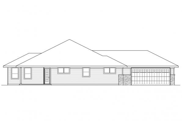 Contemporary House Plan - Oakdale 30-881 - Right Elevation