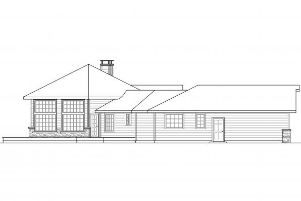 Contemporary House Plan - Silvercrst 11-143 - Right Elevation
