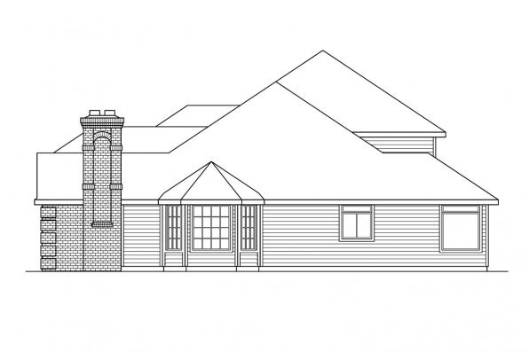 Contemporary House Plan - Stirling 10-242 - Left Elevation