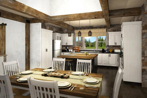 Cabin Plan - Tetherow 31-019 - Kitchen/Dining Room