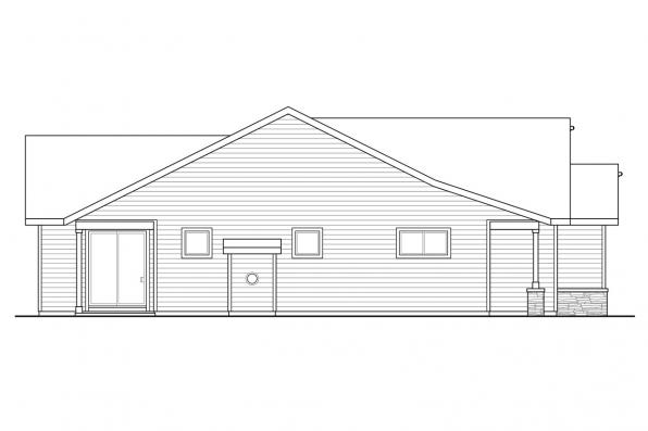 Contemporary House Plan - Hadley 31-141 - Right Elevation