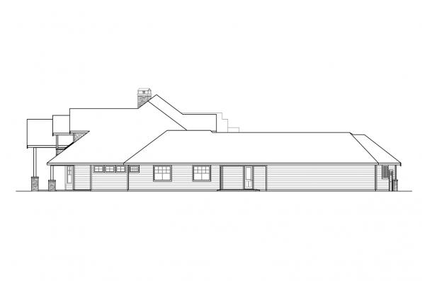 Corner Lot House Plan - Concord 31-144 - Right Elevation