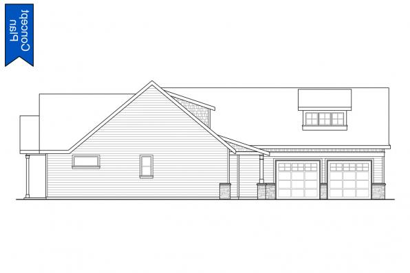 Corner Lot Concept Plan - Emmons 31-148 - Right Elevation