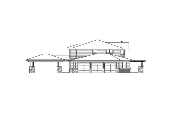 Corner Lot House Plan - Patagonia 31-145 - Left Elevation