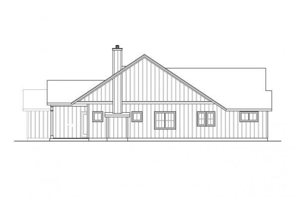 Corner Lot House Plan - Whiskey Creek 31-143 - Right Elevation