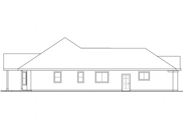 Corner Lot House Plan - Yaquina 31-025 - Right Elevation
