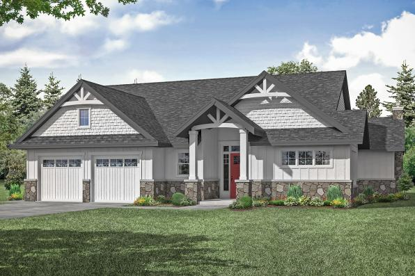 Cottage House Plan - Wesson 31-158 - Front Elevation