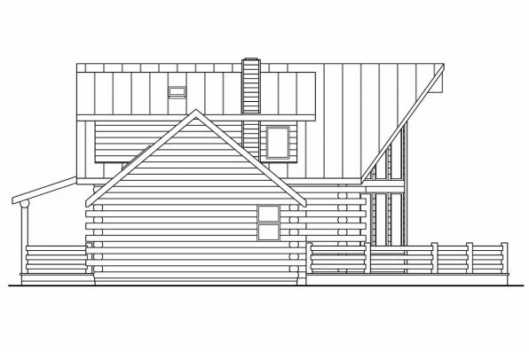 Cottage House Plan - Aspen 30-025 - Left Elevation