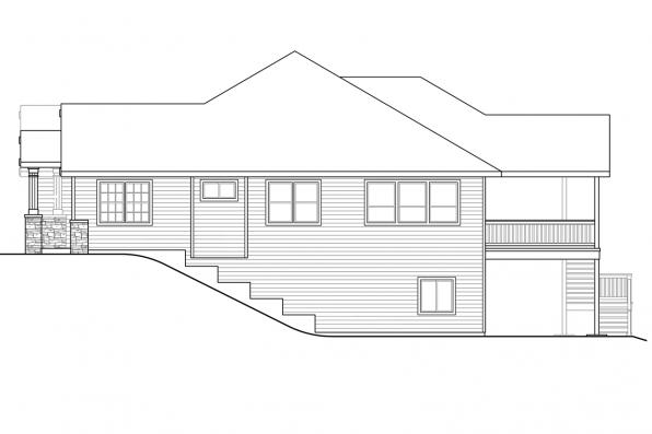 Cottage House Plan - Berkshire 30-995 - Left Elevation