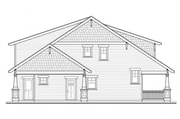 Cottage House Plan - Blue River 30-789 - Right Elevation