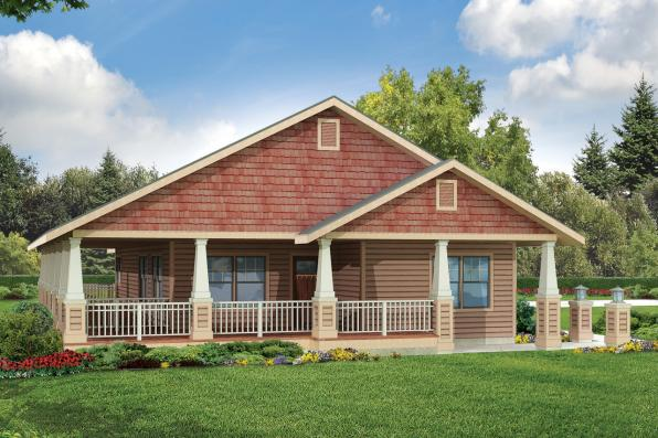Cottage House Plan - Cadence 30-807 - Front Elevation
