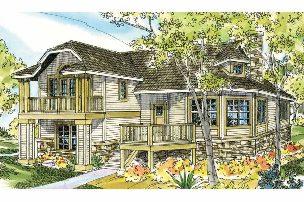 Cottage House Plan - Eagle Creek 30-725 - Front Elevation