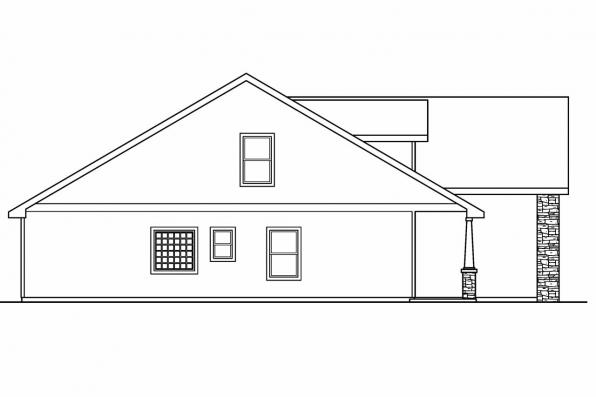 Cottage House Plan - Eastham 30-622 - Right Elevation