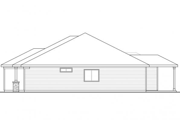 Cottage House Plan - Glenhaven 30-927 - Left Elevation