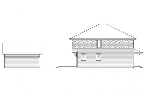 Cottage House Plan - Hanover 30-968 - Right Elevation