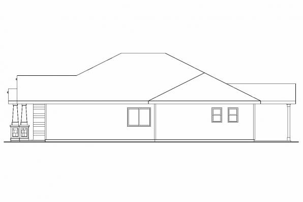 Cottage House Plan - Logan 30-720 - Left Elevation