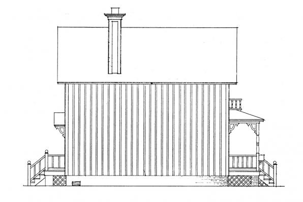 Cottage House Plan - Pearl 42-010 - Right Elevation