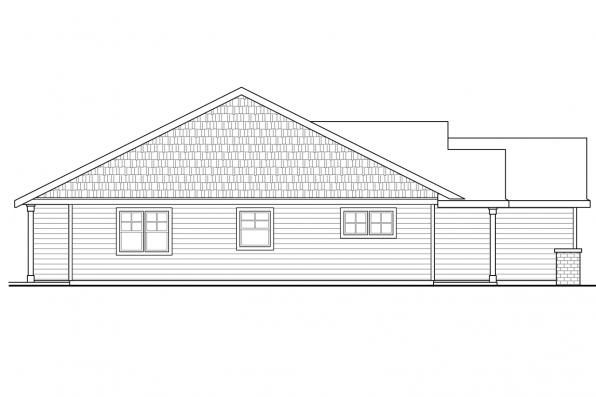 Cottage House Plan - Pineville 30-937 - Right Elevation
