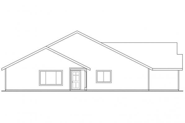 Cottage House Plan - Wynant 60-024 - Right Elevation